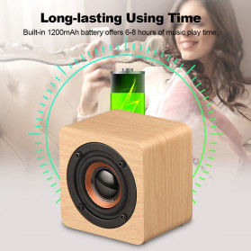 Docooler Wooden Bluetooth Speaker Stereo Subwoofer - Q1 - Brown - 10