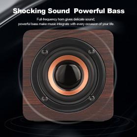 Docooler Wooden Bluetooth Speaker Stereo Subwoofer - Q1 - Brown - 11