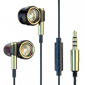 Roreta HiFi Earphone Elegant Premium Design with Mic - A1 - Black - 1