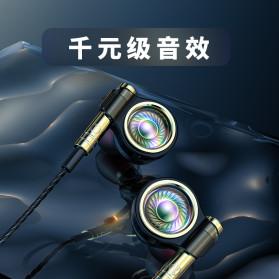 Roreta HiFi Earphone Elegant Premium Design with Mic - A1 - Black - 2
