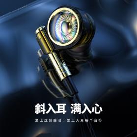 Roreta HiFi Earphone Elegant Premium Design with Mic - A1 - Black - 3