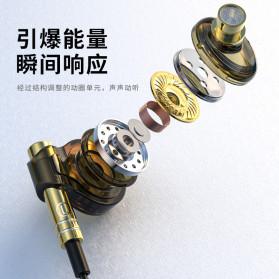 Roreta HiFi Earphone Elegant Premium Design with Mic - A1 - Black - 4