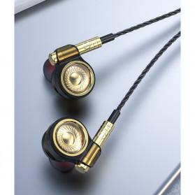 Roreta HiFi Earphone Elegant Premium Design with Mic - A1 - Black - 7