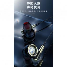 Roreta HiFi Earphone Elegant Premium Design with Mic - A1 - Black - 8