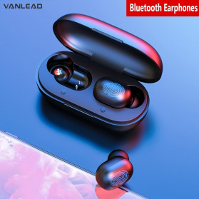 VANLEAD TWS Sport Earphone True Wireless Bluetooth 5.0 with Charging Dock - A6X - Black