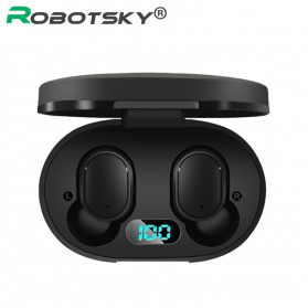 Robotsky TWS Sport Earphone True Wireless Bluetooth 5.0 with Charging Dock - A6L - Black