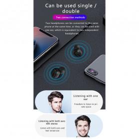 Robotsky TWS Sport Earphone True Wireless Bluetooth 5.0 with Charging Dock - A6L - Black - 10