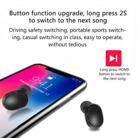 Robotsky TWS Sport Earphone True Wireless Bluetooth 5.0 with Charging Dock - A6L - Black - 3
