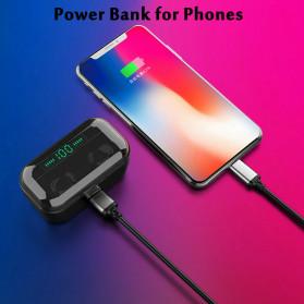 Robotsky TWS Sport Earphone True Wireless Bluetooth 5.0 with Powerbank Charging Dock 3600mAh - M7 - Black - 10