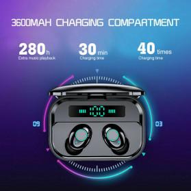 Robotsky TWS Sport Earphone True Wireless Bluetooth 5.0 with Powerbank Charging Dock 3600mAh - M7 - Black - 2