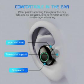 Robotsky TWS Sport Earphone True Wireless Bluetooth 5.0 with Powerbank Charging Dock 3600mAh - M7 - Black - 3