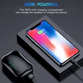 Robotsky TWS Sport Earphone True Wireless Bluetooth 5.0 with Powerbank Charging Dock 3600mAh - M7 - Black - 8
