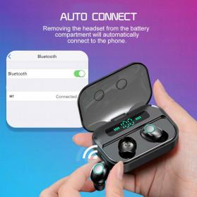 Robotsky TWS Sport Earphone True Wireless Bluetooth 5.0 with Powerbank Charging Dock 3600mAh - M7 - Black - 9