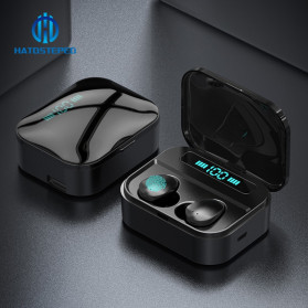 Robotsky TWS Sport Earphone True Wireless Bluetooth 5.0 with Powerbank Charging Dock 3600mAh - X7 - Black