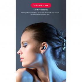Robotsky TWS Sport Earphone True Wireless Bluetooth 5.0 with Powerbank Charging Dock 3600mAh - X7 - Black - 12