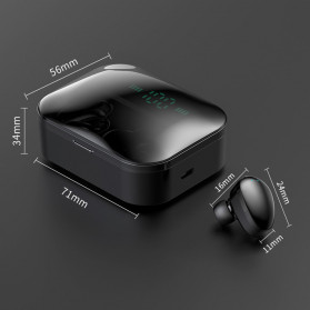 Robotsky TWS Sport Earphone True Wireless Bluetooth 5.0 with Powerbank Charging Dock 3600mAh - X7 - Black - 14