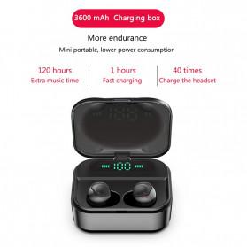 Robotsky TWS Sport Earphone True Wireless Bluetooth 5.0 with Powerbank Charging Dock 3600mAh - X7 - Black - 4