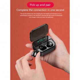 Robotsky TWS Sport Earphone True Wireless Bluetooth 5.0 with Powerbank Charging Dock 3600mAh - X7 - Black - 7