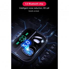 Robotsky TWS Sport Earphone True Wireless Bluetooth 5.0 with Powerbank Charging Dock 3600mAh - X7 - Black - 8
