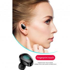 Robotsky TWS Sport Earphone True Wireless Bluetooth 5.0 with Powerbank Charging Dock 3600mAh - X7 - Black - 9