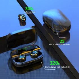 Robotsky TWS Sport Earphone True Wireless Bluetooth 5.0 with Powerbank Charging Dock 3500mAh - S11 - Black - 11