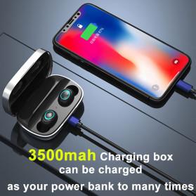 Robotsky TWS Sport Earphone True Wireless Bluetooth 5.0 with Powerbank Charging Dock 3500mAh - S11 - Black - 3