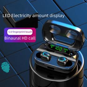Robotsky TWS Sport Earphone True Wireless Bluetooth 5.0 with Powerbank Charging Dock 3500mAh - S11 - Black - 4