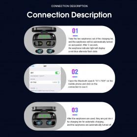 Robotsky TWS Sport Earphone True Wireless Bluetooth 5.0 with Powerbank Charging Dock 3500mAh - S11 - Black - 8