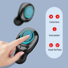Robotsky TWS Sport Earphone True Wireless Bluetooth 5.0 with Powerbank Charging Dock 3500mAh - S11 - Black - 9