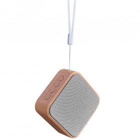 Nisheng Speaker Mini Bluetooth Wood Design + FM Radi0 + Card Slot A70 - Gray