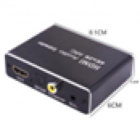 NBY Audio Konverter Separation HDMI ARC to SPDIF FIber Optic 3.5mm AUX 7 / 5.1 Channel - TD-V30 - Black - 2