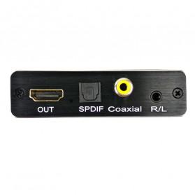NBY Audio Konverter Separation HDMI ARC to SPDIF FIber Optic 3.5mm AUX 7 / 5.1 Channel - TD-V30 - Black - 3