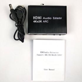 NBY Audio Konverter Separation HDMI ARC to SPDIF FIber Optic 3.5mm AUX 7 / 5.1 Channel - TD-V30 - Black - 4