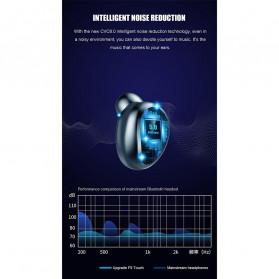 ZEBRA TWS Sport Earphone True Wireless Bluetooth 5.0 LED Touch with Powerbank Charging Dock 2000mAh - F9-2 - Black - 11