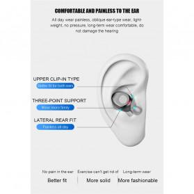 ZEBRA TWS Sport Earphone True Wireless Bluetooth 5.0 LED Touch with Powerbank Charging Dock 2000mAh - F9-2 - Black - 12