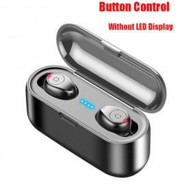 ZEBRA TWS Sport Earphone True Wireless Bluetooth 5.0 with Powerbank Charging Dock 2000mAh - F9 - Black