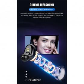 ZEBRA TWS Sport Earphone True Wireless Bluetooth 5.0 LED with Powerbank Charging Dock 2000mAh - F9-2 - Black - 4
