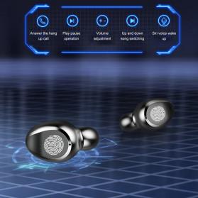 ZEBRA TWS Sport Earphone True Wireless Bluetooth 5.0 LED Touch with Powerbank Charging Dock 2000mAh - F9-3 - Black - 4
