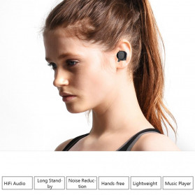 ZEBRA TWS Sport Earphone True Wireless Bluetooth 5.0 with Powerbank Charging Dock 2000mAh - M8 - Black - 5