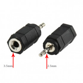 Overfly Adapter Konverter Audio AUX 2.5mm to 3.5mm - RCX-79 - Black - 3
