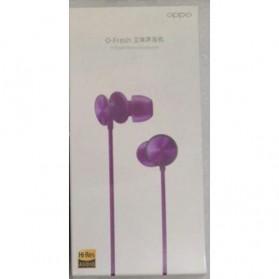 OPPO O-Fresh HiFi Earphone Sporty Design with Mic - MH151 (Replika 1:1) - Purple - 1