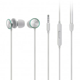 OPPO O-Fresh HiFi Earphone Sporty Design with Mic - MH151 (Replika 1:1) - White