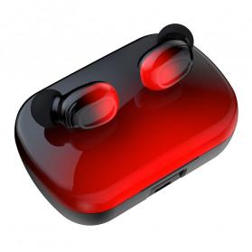 Robotsky TWS Sport Earphone True Wireless Bluetooth 5.0 with Powerbank Charging Dock 3500mAh - S12 - Black/Blue - 4
