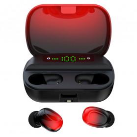 Robotsky TWS Sport Earphone True Wireless Bluetooth 5.0 with Powerbank Charging Dock 3500mAh - S12 - Black/Blue - 5
