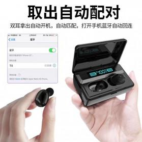 Robotsky TWS Sport Earphone True Wireless Bluetooth 5.0 with Powerbank Charging Dock - S13 - Black - 6