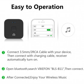VIKEFON Music NFC Bluetooth Receiver 5.0 - BLS-B11 - Black - 5