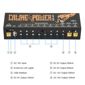 Caline Power Supply Pedal Efek Gitar Multi Channel 10 Output - CP-04 - 2