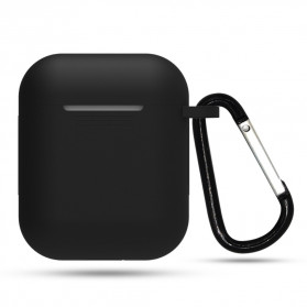 Centechia Silicone Case Waterproof for AirPods Charging Dock with Buckle - ES78 - Black