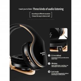 NISHEN Wireless Bluetooth Headphone Foldable with Microphone - SN-P18 - Black - 11