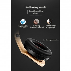 NISHEN Wireless Bluetooth Headphone Foldable with Microphone - SN-P18 - Black - 12